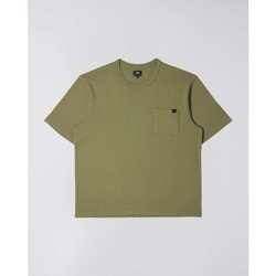 tekstylia Męskie T-shirty z krótkim rękawem Edwin T-shirt  Oversized vert kaki