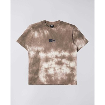 tekstylia Męskie T-shirty z krótkim rękawem Edwin T-shirt  Synergy marron/blanc