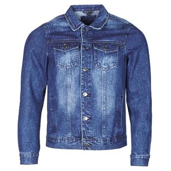 tekstylia Męskie Kurtki jeansowe Yurban OPSI Niebieski / Medium