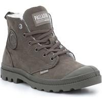 Buty Damskie Buty za kostkę Palladium Manufacture Pampa HI Zip WL 95982-213-M brązowy