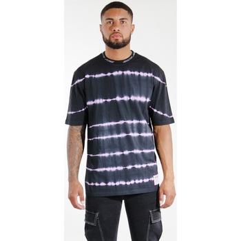 tekstylia Męskie T-shirty i Koszulki polo Sixth June T-shirt  Tie & Dye noir/violet