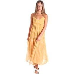 tekstylia Damskie Sukienki długie Fracomina FR20SMLINDA Żółty