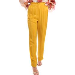 tekstylia Damskie Spodnie Fracomina FR20SM649 Żółty