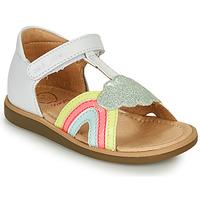 Buty Dziewczynka Sandały Shoo Pom TITY RAINBOW Biały