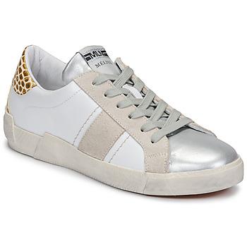 Buty Damskie Trampki niskie Meline NK1381 Biały / Beżowy