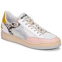 Buty Damskie Trampki niskie Meline BZ180 Biały / Różowy