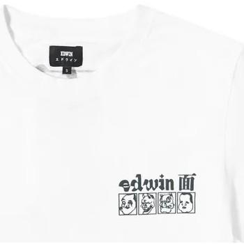 tekstylia Męskie T-shirty z krótkim rękawem Edwin T-shirt  Hokusai Noh Masks blanc/noir