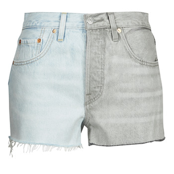 tekstylia Damskie Szorty i Bermudy Levi's ICE BLOCK Niebieski / Szary