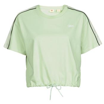 tekstylia Damskie T-shirty z krótkim rękawem Levi's GINGER NYLON PIECED TEE BOK CHOY, TOFU & CAVIAR Biały