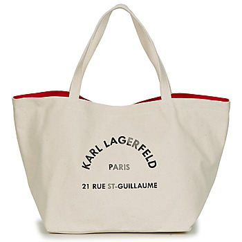 Torby Damskie Torby shopper Karl Lagerfeld RUE ST GUILLAUE CANVAS TOTE Ecru