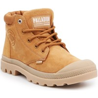 Buty Damskie Trampki wysokie Palladium Manufacture Pampa LO Cuff LEA 95561-717-M brązowy