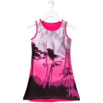 tekstylia Dziewczynka Sukienki krótkie Losan 714 7003AB Różowy
