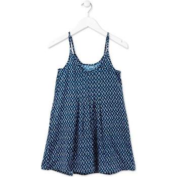 tekstylia Dziewczynka Sukienki krótkie Losan 714 7017AB Niebieski