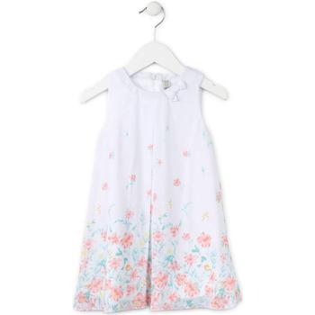 tekstylia Dziewczynka Sukienki krótkie Losan 716 7784AD Biały
