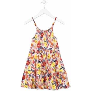 tekstylia Dziewczynka Sukienki krótkie Losan 814-7028AB Pomarańczowy