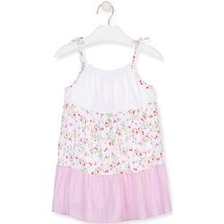 tekstylia Dziewczynka Sukienki krótkie Losan 016-7030AL Biały