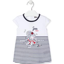 tekstylia Dziewczynka Sukienki krótkie Losan 018-7000AL Niebieski