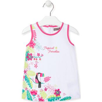 tekstylia Dziewczynka Sukienki krótkie Losan 018-7005AL Biały