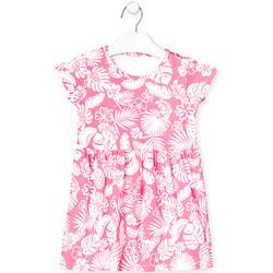 tekstylia Dziewczynka Sukienki krótkie Losan 018-7042AL Różowy