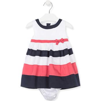 tekstylia Dziewczynka Sukienki krótkie Losan 018-7793AL Biały