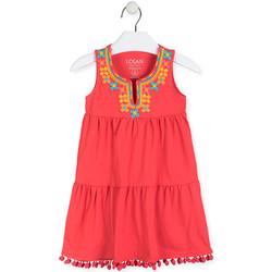 tekstylia Dziewczynka Sukienki krótkie Losan 016-7012AL Czerwony