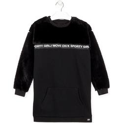 tekstylia Dziewczynka Sukienki krótkie Losan 024-7006AL Czarny