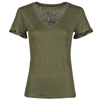 tekstylia Damskie T-shirty z krótkim rękawem Ikks BS10255-56 Kaki