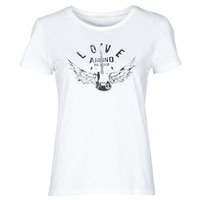 tekstylia Damskie T-shirty z krótkim rękawem Ikks BS10185-11 Ecru