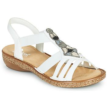 Buty Damskie Sandały Rieker DOLNA Biały