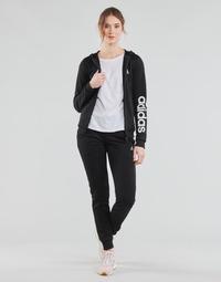 tekstylia Damskie Zestawy dresowe adidas Performance W LIN FT TS Czarny