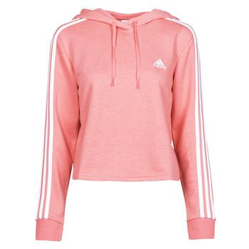 tekstylia Damskie Bluzy adidas Performance W 3S FT CRO HD Różowy
