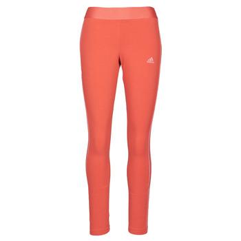 tekstylia Damskie Legginsy adidas Performance W 3S LEG Czerwony