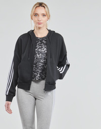 tekstylia Damskie Bluzy dresowe adidas Performance W 3S FZ HD Czarny