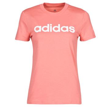 tekstylia Damskie T-shirty z krótkim rękawem adidas Performance W LIN T Różowy