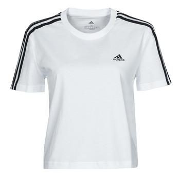 tekstylia Damskie T-shirty z krótkim rękawem adidas Performance W 3S CRO T Biały