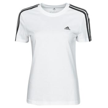 tekstylia Damskie T-shirty z krótkim rękawem adidas Performance W 3S T Biały