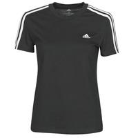 tekstylia Damskie T-shirty z krótkim rękawem adidas Performance W 3S T Czarny