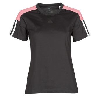 tekstylia Damskie T-shirty z krótkim rękawem adidas Performance W CB LIN T Czarny