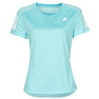 tekstylia Damskie T-shirty z krótkim rękawem adidas Performance OWN THE RUN TEE Niebieski