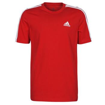 tekstylia Męskie T-shirty z krótkim rękawem adidas Performance M 3S SJ T Czerwony