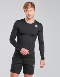 tekstylia Męskie T-shirty z długim rękawem adidas Performance TF LS Czarny