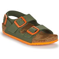 Buty Chłopiec Sandały Birkenstock MILANO Kaki / Pomarańczowy