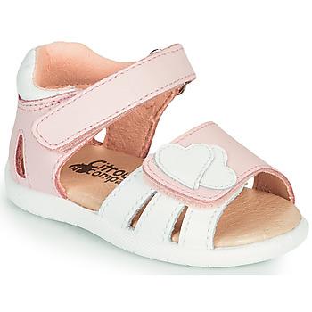 Buty Dziewczynka Sandały Citrouille et Compagnie OLESS Różowy / Biały