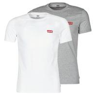 tekstylia Męskie T-shirty z krótkim rękawem Levi's 2PK CREWNECK GRAPHIC Biały