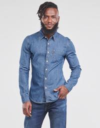 tekstylia Męskie Koszule z długim rękawem Levi's SUNSET 1 PKT SLIM Niebieski