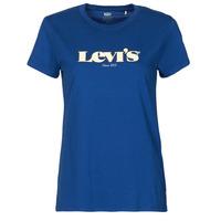 tekstylia Damskie T-shirty z krótkim rękawem Levi's THE PERFECT TEE Niebieski