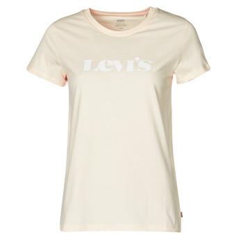 tekstylia Damskie T-shirty z krótkim rękawem Levi's THE PERFECT TEE Beżowy