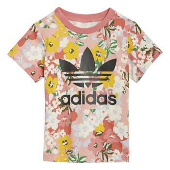 tekstylia Dziewczynka T-shirty z krótkim rękawem adidas Originals GN2262 Wielokolorowy