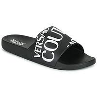 Buty Męskie klapki Versace Jeans Couture TENNIA Czarny / Biały