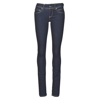 tekstylia Damskie Jeansy slim fit Pepe jeans NEW BROOKE Niebieski